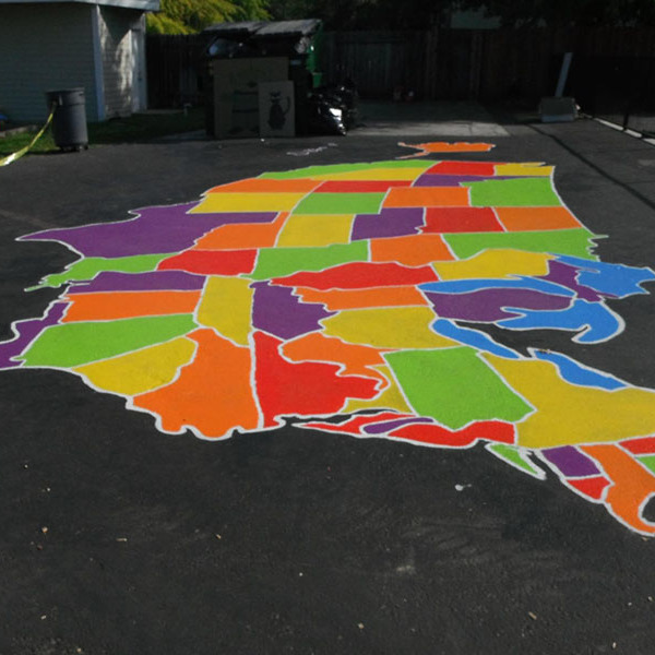 How to paint U.S. and world maps