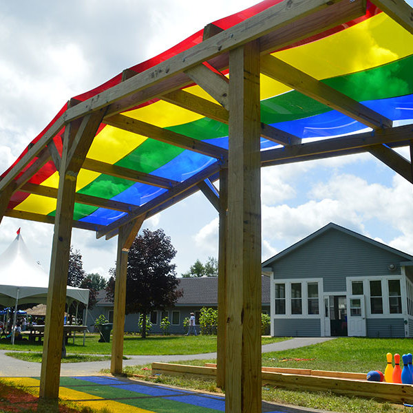 How to Build a Rainbow Shade Structure