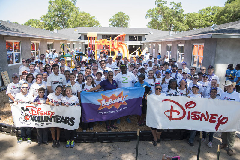 Disney Team Photo at playground build