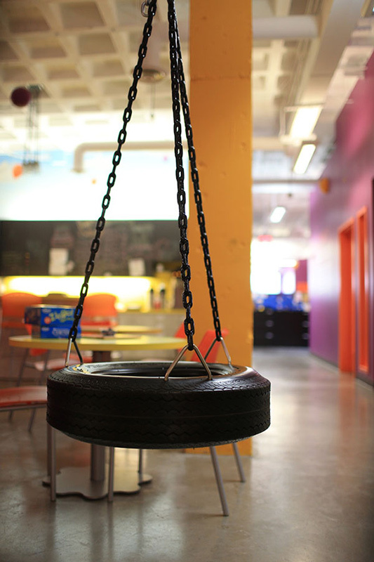 Our office tire swing!