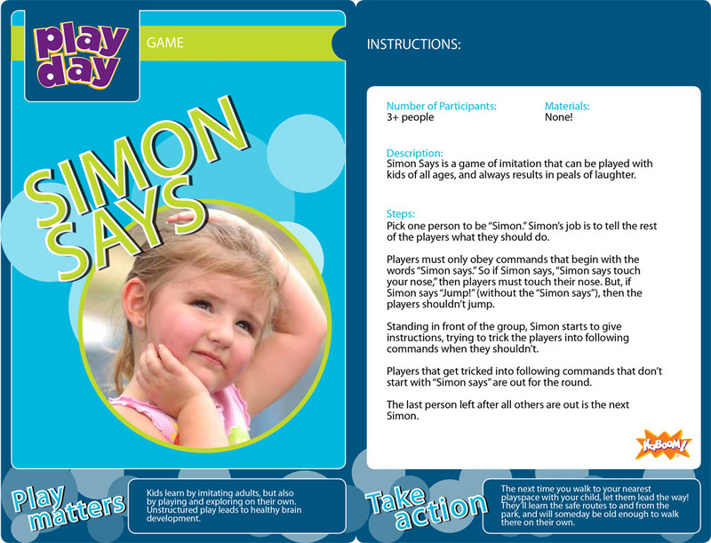 Simon Says Information Card