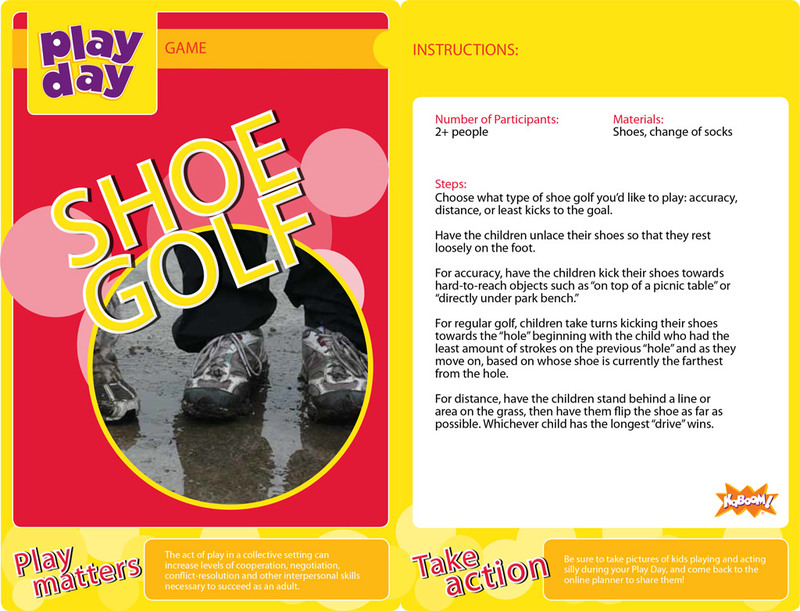 Shoe Golf Information Card
