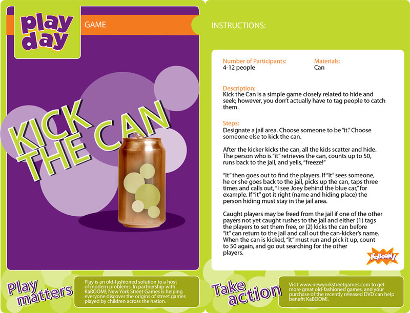 Kick the Can Information Card