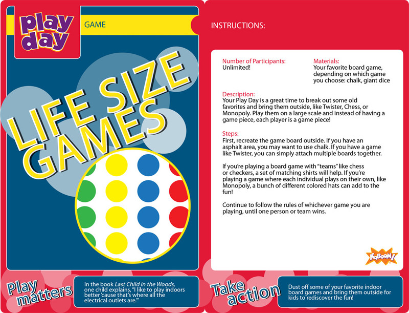 Life-Size Games Information Card