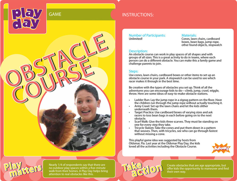 Obstacle Course Information Card