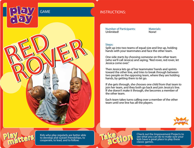 Red Rover Information Card