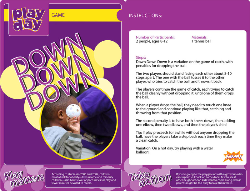 Down Down Down Information Card
