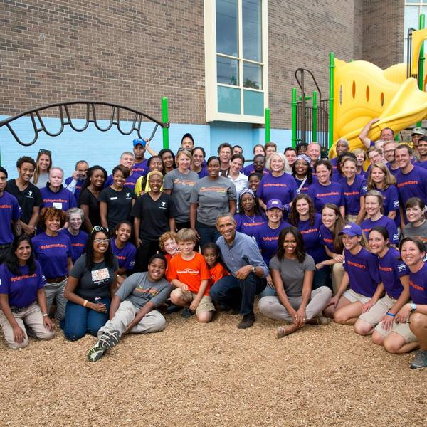 Day of Service 2014 with President and First Lady Obama 1