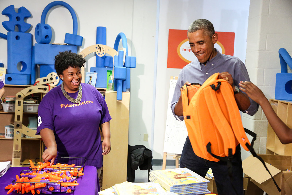 Barack Obama Nicole Newman September 11 2014 Day of Service