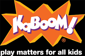 KaBOOM! logo with white tagline display