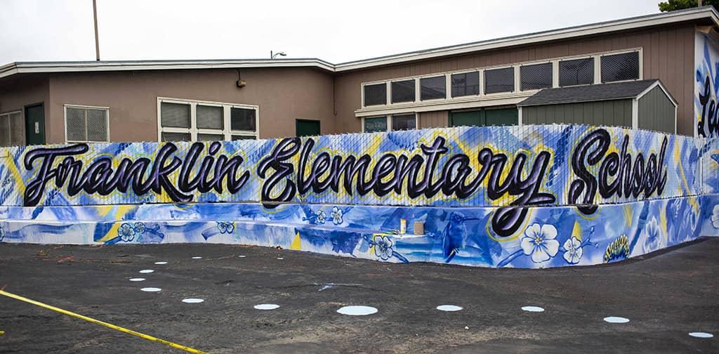 Franklin Elementary School written in graffiti-style letters